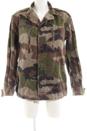 beclaimed vintage Veste militaire motif de camouflage style décontracté