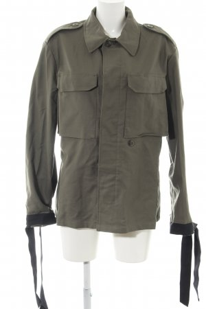 beclaimed vintage Übergangsjacke khaki-schwarz Animalmuster Casual-Look