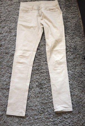 Pantalone di lana crema-bianco sporco