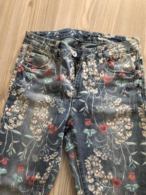 Pantalone cinque tasche multicolore