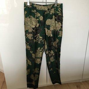 Zara Basic Pantalon kaki multicolore soie