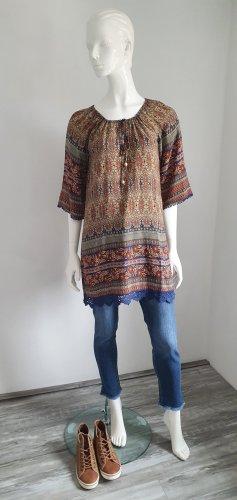 bedrucktes Kleid, Tunika von Apricot