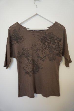 bedrucktes T-Shirt braun/grau