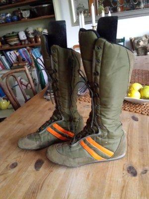 Aanrijg laarzen olijfgroen-oranje