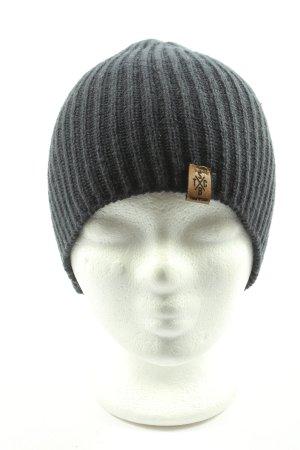 BeechField Bonnet en crochet noir moucheté style décontracté