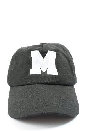 Beechfield Original Headwear Ballonmuts zwart-wit gedrukte letters