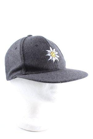 Beechfield Original Headwear Baseball Cap light grey embroidered lettering