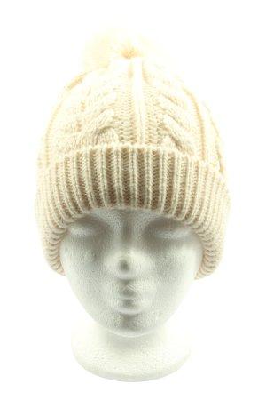Beechfield Original Headwear Gorro tejido crema punto trenzado look casual