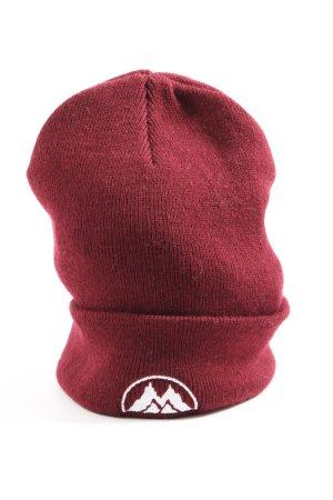 Beechfield Original Headwear Cappello a maglia rosso-bianco Stampa a tema