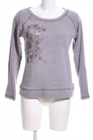 Beedees Crewneck Sweater light grey flower pattern casual look