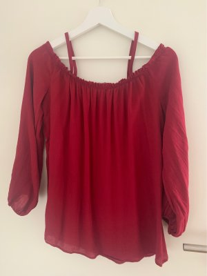 Beere Farbe ne Off Shoulder Bluse