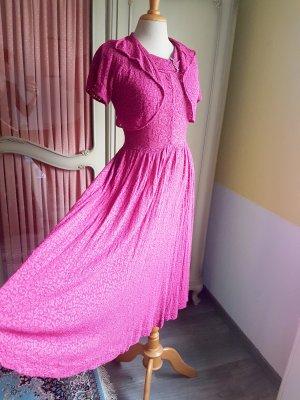 Vintage Vestido con enagua multicolor