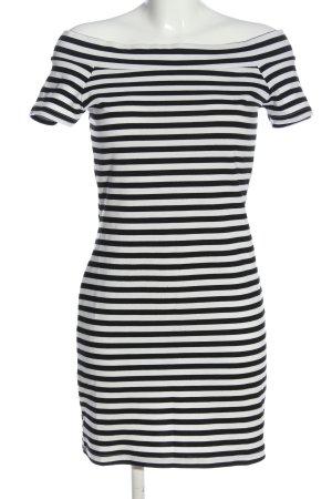 Befree Sukienka etui biały-czarny Wzór w paski W stylu casual