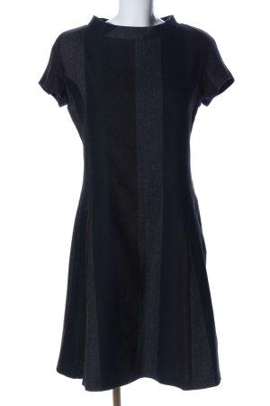 Beggon Abito longuette nero-grigio chiaro puntinato stile casual