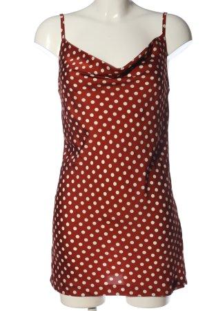 Beginning Boutique Trägerkleid rot-weiß Punktemuster Casual-Look