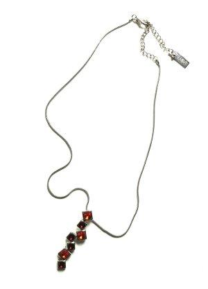 Behave Halskette mit Zikoniaanhänger - Rot - Neu