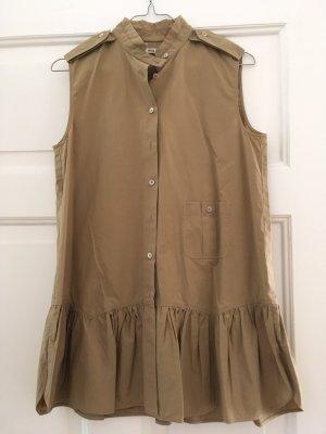 Beige, ärmellose Bluse von Miu Miu im Safari-Stil