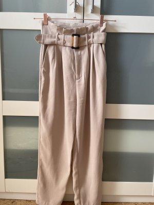 Stradivarius Peg Top Trousers beige-light brown