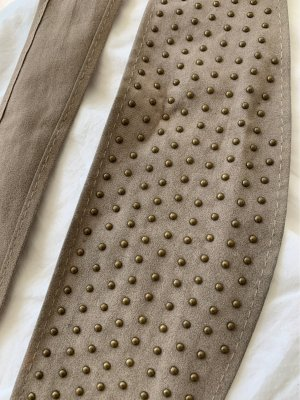 Stradivarius Fabric Belt beige cotton