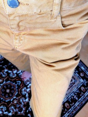 armedangels Pantalone a vita alta multicolore Cotone