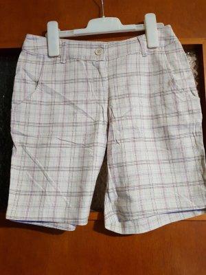 beige braun karierte Shorts mit Details NEU Gr. 32