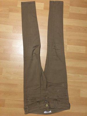 Beige Braune Jeans Hose Röhre skinny sand Größe 36 Tally Weijl