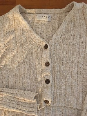 Beige Cardigan Knit Shirt, Gr. M