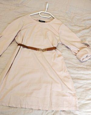 Beige, creme farbenes Langarm Kleid, Tunika von Yoins, Gr. M