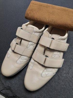 Beige Creme Sneaker von Gucci aus Leder
