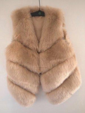 Fake Fur Vest cream
