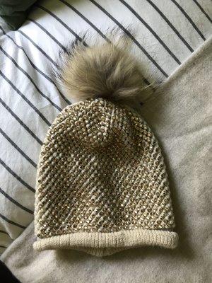 Cappello in pelliccia multicolore