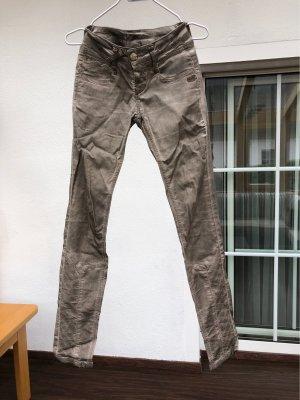 gang jeans pantalón de cintura baja beige