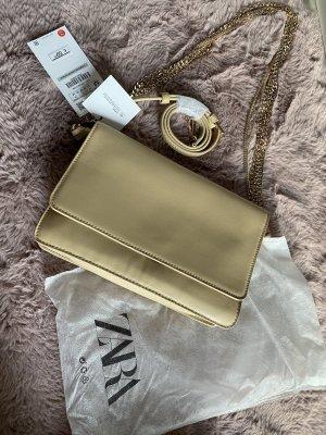 Beige Gold Tasche Kette Leder 2 Anhäger ☺️