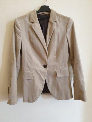 Beige/grau Blazer im Samtlook Zara