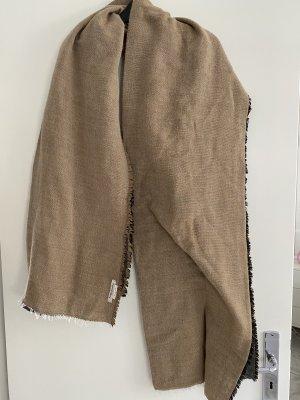 Betty Barclay Sciarpa di lana beige-antracite Cotone