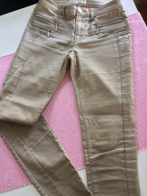 Only Drainpipe Trousers beige cotton