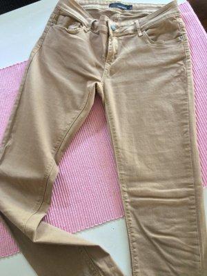 Tally Weijl Drainpipe Trousers beige cotton