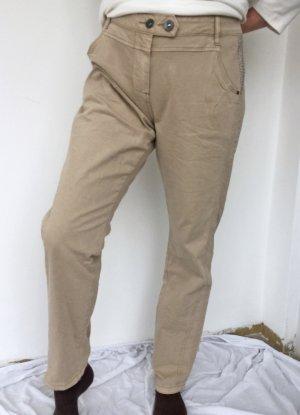 Cecil Pantalon cinq poches brun sable-beige coton