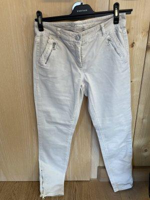 Cambio 7/8-jeans licht beige-beige