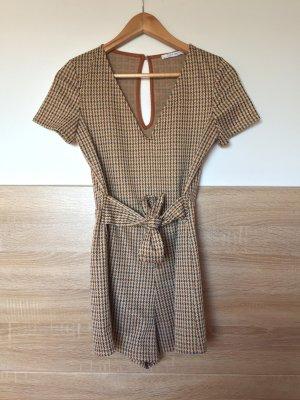 Beige Karo Jumpsuit von Zara, Gr. S (NEU)