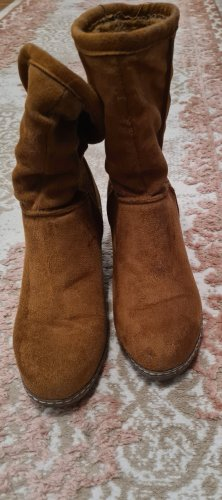 Street Shoes Korte laarzen brons-bruin Gemengd weefsel