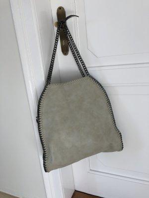 Beige Kettentasche / Schultertasche