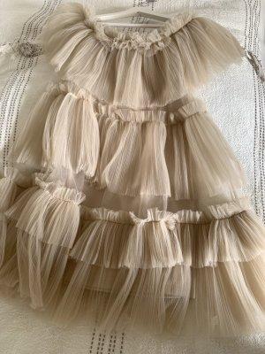 beige Kleid