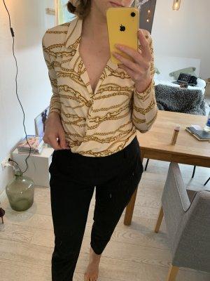 Beige Kragenbluse Gucci Look