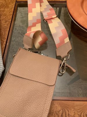 Börse in Pelle Crossbody bag nude-apricot leather