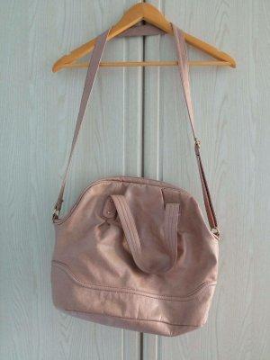 H&M Shoulder Bag beige mixture fibre