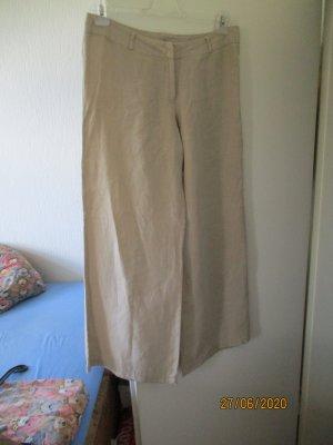 Pantalon en lin brun sable