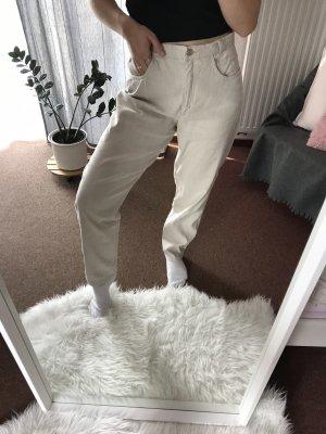 Robell Pantalon en lin crème