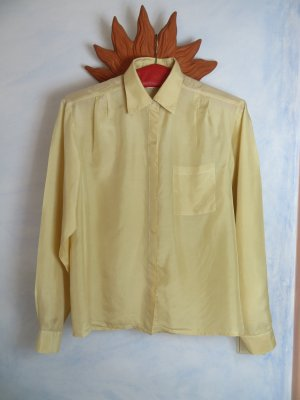 Vintage Blusa in seta crema-beige chiaro Seta