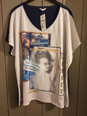 beige-marineblaues T-Shirt von msmode